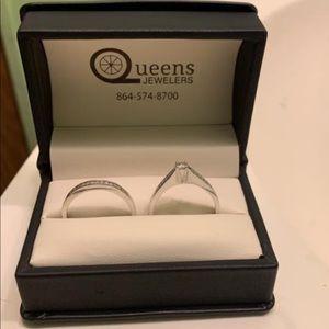 Size 11 wedding band/engagement ring set